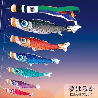 こいのぼり 単品 徳永鯉のぼり 夢はるか 0.8m 口金付