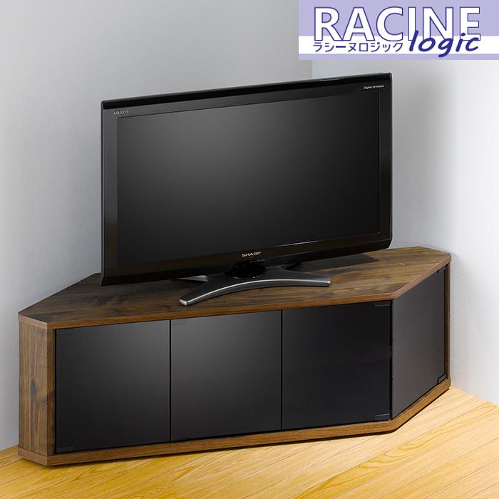 テレビ台 コーナーテレビ台 ウォールナット キャスター付き AV収納 すきま収納 コーナー 角 TV AVボード