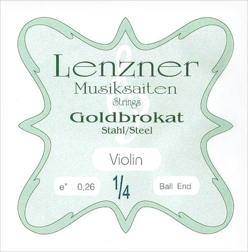 低価格ながら優れた音色と弾き心地 ヴァイオリン弦 Goldbrokat 当店は最高な サービスを提供します 営業 ゴールドブロカット E 0.26 1 ※メール便対応 4サイズ用