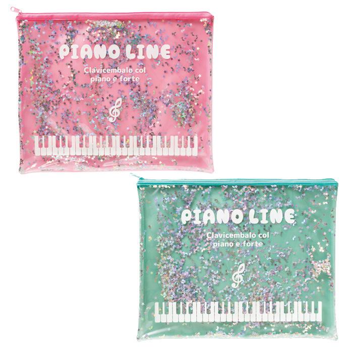 星や音符型のスパンコールがキラキラ光る連絡帳ケース Piano 日本産 スパンコール連絡帳ケース line ブランド品
