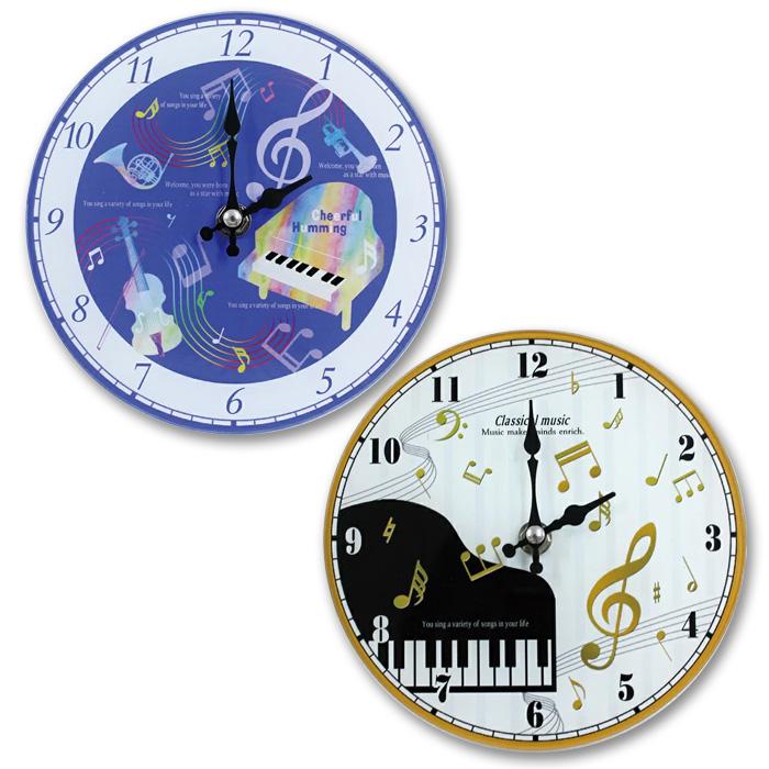 壁掛け 優先配送 机置き両用のミュージックデザイン時計 掛置時計 全店販売中