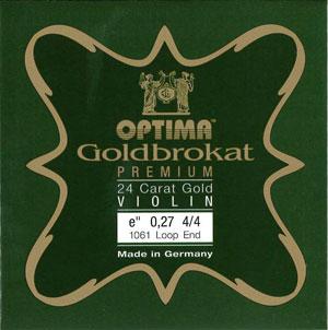 100%品質保証 人気のゴールドブロカットの最高級弦 ヴァイオリン弦 人気の定番 Goldbrokat PREMIUM ゴールドブロカット E プレミアム 0.27 ゴールド メール便対応可