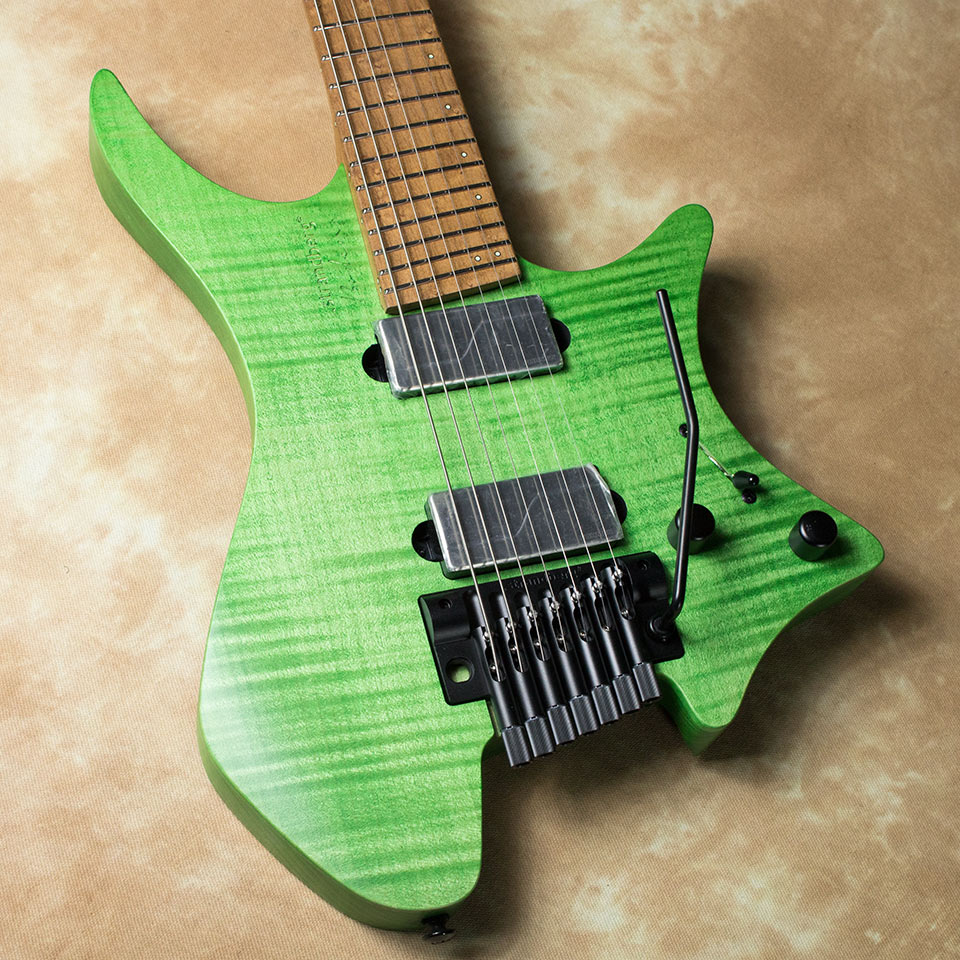 strandberg/Boden Original 7 TR (Tremolo / Green / Maple) w/Fishman Fluence P.U【在庫あり】【トップ選定品】【Boden Original在庫強化中】