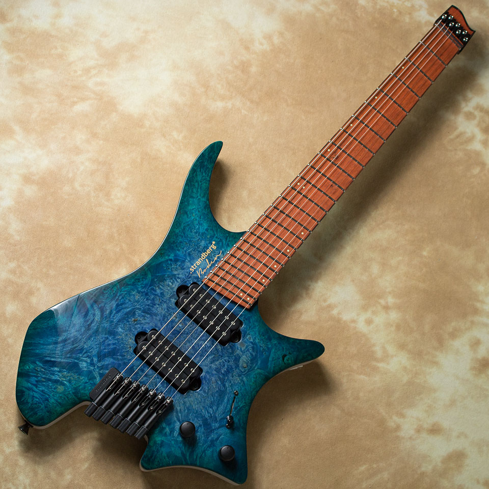 strandberg/Boden J Series J7 Custom Burl Maple Top Bahama Blue【在庫あり】【チョイキズ特価】
