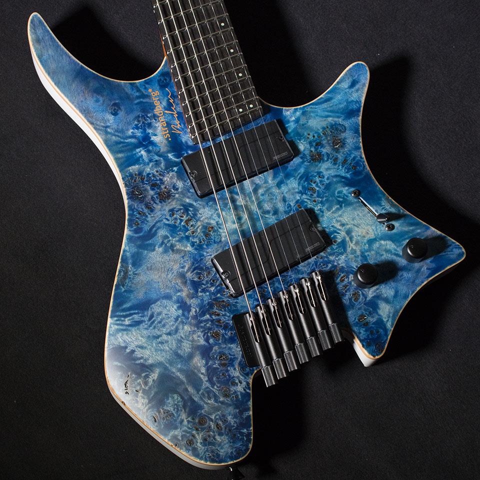 strandberg/Boden J-Series J7 Standard Poplar Burl Satin (Blue Fade / Ebony)【在庫あり】