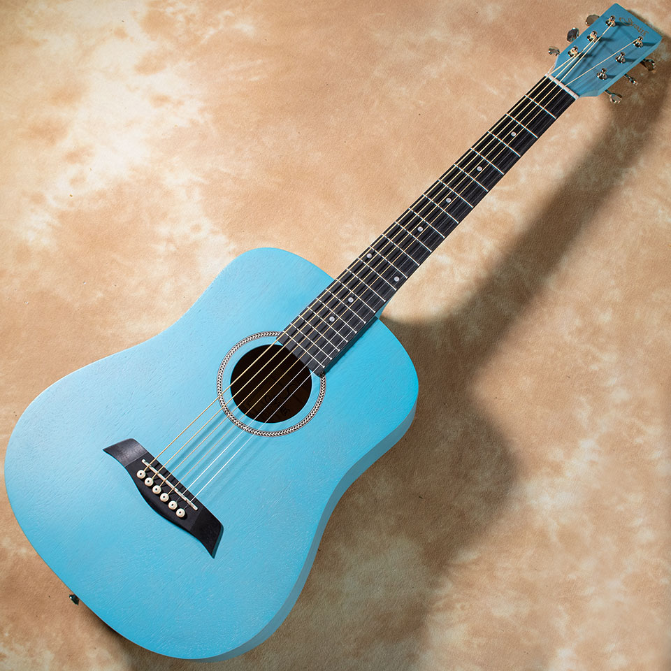 コストパフォーマンスに優れたコンパクトアコースティックギター ご注文で当日配送 S.Yairi YM-02 UBL 休み Blue ミニギター 在庫あり Light