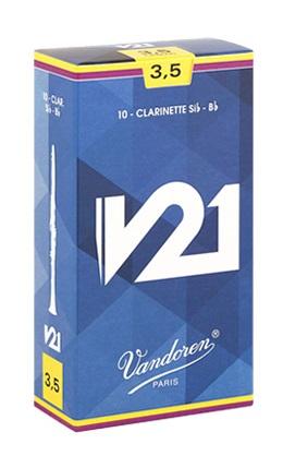 本物 ぜひお試しください Vandoren バンドレン 18%OFF B♭クラリネット リード V21 硬さ:3番