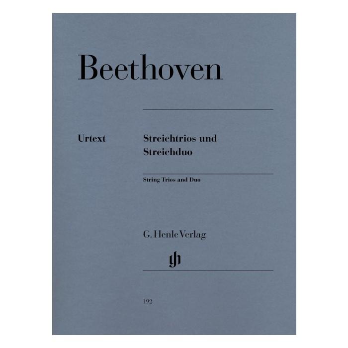 輸入楽譜 室内楽楽譜 弦楽三重奏曲集と二重奏 新入荷 流行 Streichtrios op. 3 8 WoO 9; Streichduo 特別セール品 32