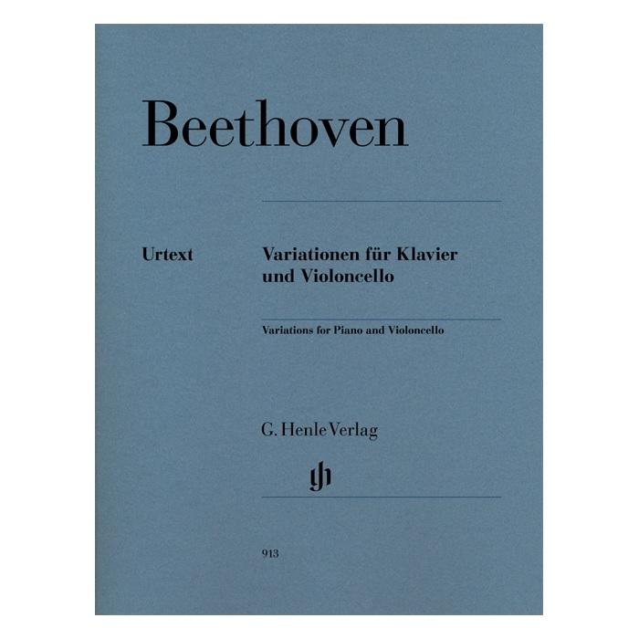 輸入楽譜 引出物 チェロ チェロ楽譜 ピアノとチェロのための変奏曲 全3曲 Variations 66 年間定番 WoO 46 op. 45