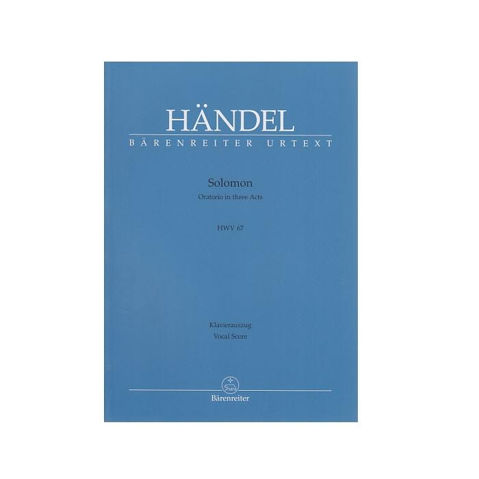 輸入楽譜 高価値 合唱 オラトリオ ソロモン HWV 67 Solomon Oratorio in お得セット 3 67: Acts E