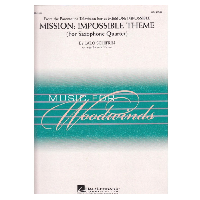 買取 輸入楽譜 送料無料限定セール中 サックス ミッション:インポッシブルのテーマ Impossible Mission: Theme