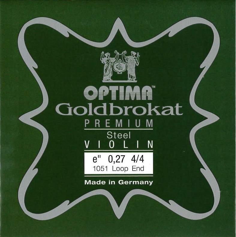 ゴールドブロカットが進化 ヴァイオリン弦 GoldBrokat Premium ゴールドブロカット スチール 交換無料 プレミアム E線 休日 0.27