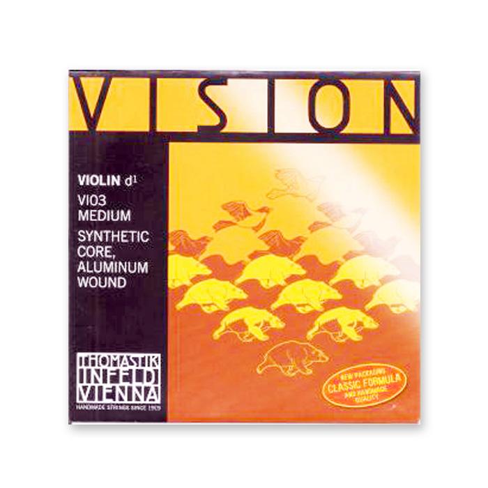 リーズナブルなナイロン弦 ヴァイオリン弦 VISION ヴィジョン ※メール便対応 8サイズ用 1 D 有名な 販売