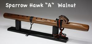 """[インディアンフルート] SparrowHawk """"A"""" Walnut 113-W ※送料無料【店頭受取対応商品】"""