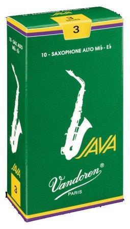 ジャズやポップスの演奏におすすめ Vandoren マート バンドレン アルトサックス 別倉庫からの配送 リード 緑 JAVA 3