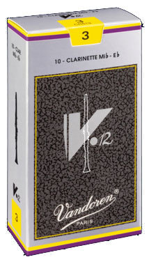 ファクトリーアウトレット 吹奏楽やクラシックの演奏におすすめ Vandoren バンドレン E♭クラリネット リード 売り出し 銀箱 1 硬さ:3 2 V12