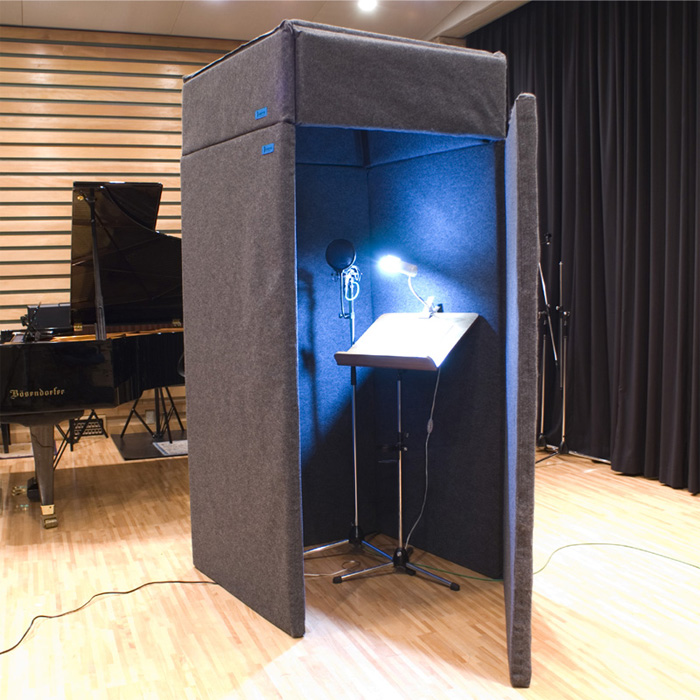 VERY-Q VQ910 Vocal Booth Set(吸音タイプ)[簡易防音室セットグレー]