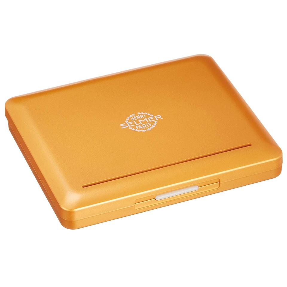 人気のリードケースが色鮮やかに生まれ変わりました セルマー SELMER アルトサックス 10枚収納 オレンジゴールド 期間限定お試し価格 リードケース 日本最大級の品揃え
