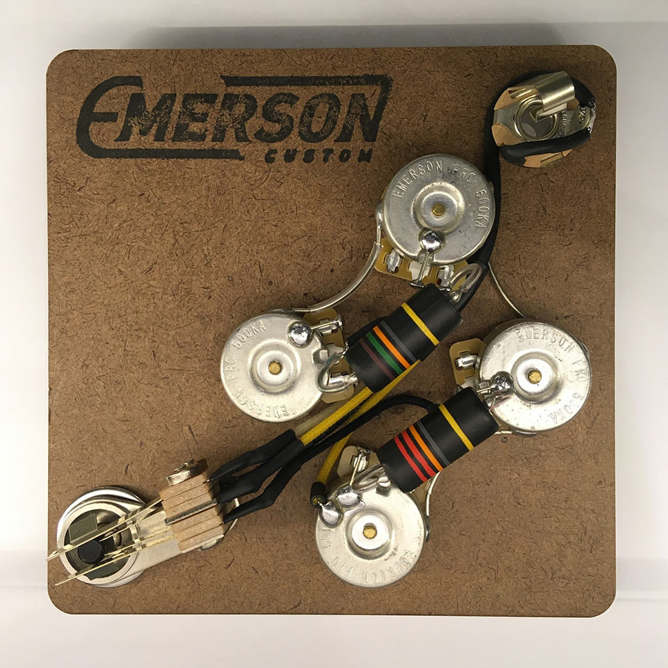 Emerson Custom/SG PREWIRED KIT (500K Pots, 0.022uf & 0.015uf Bumblebee Capacitors)