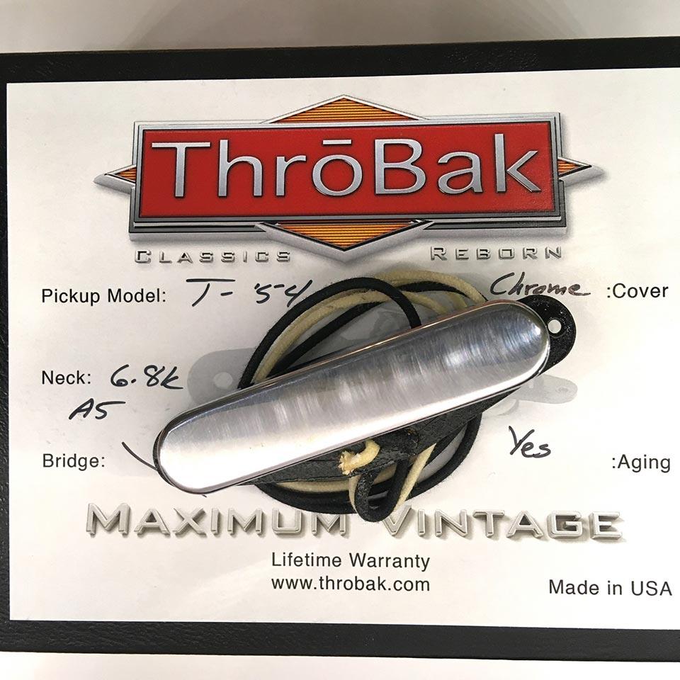 ThroBak/T-54 MXV- ThroBak Tele Guitar Pickup / Neck / Aged Crome