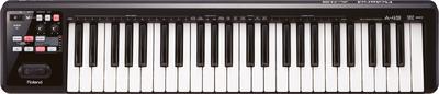 弾き心地を徹底追求した本格シンセ鍵盤を採用。3つのプラットフォームに対応したMIDIキーボード・コントローラー。 Roland/A-49-BK【神田店】