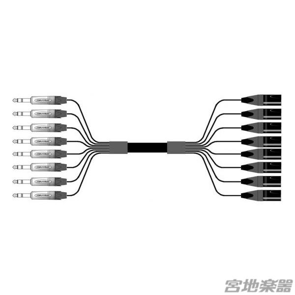 Belden/8ch XLRM(オス)-TRS(NEUTRIK) 変換ケーブル 7m マルチチャンネルケーブル