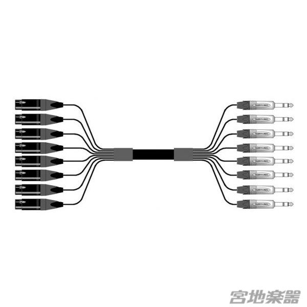 Belden/8ch XLRF(メス)-TRS(NEUTRIK) 変換ケーブル 7m マルチチャンネルケーブル