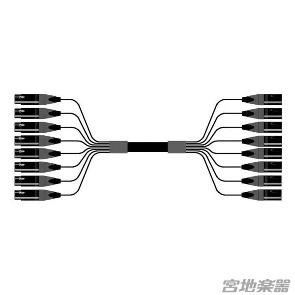 Belden/8ch XLRF(メス)-XLRM(オス) 変換ケーブル 1m マルチチャンネルケーブル