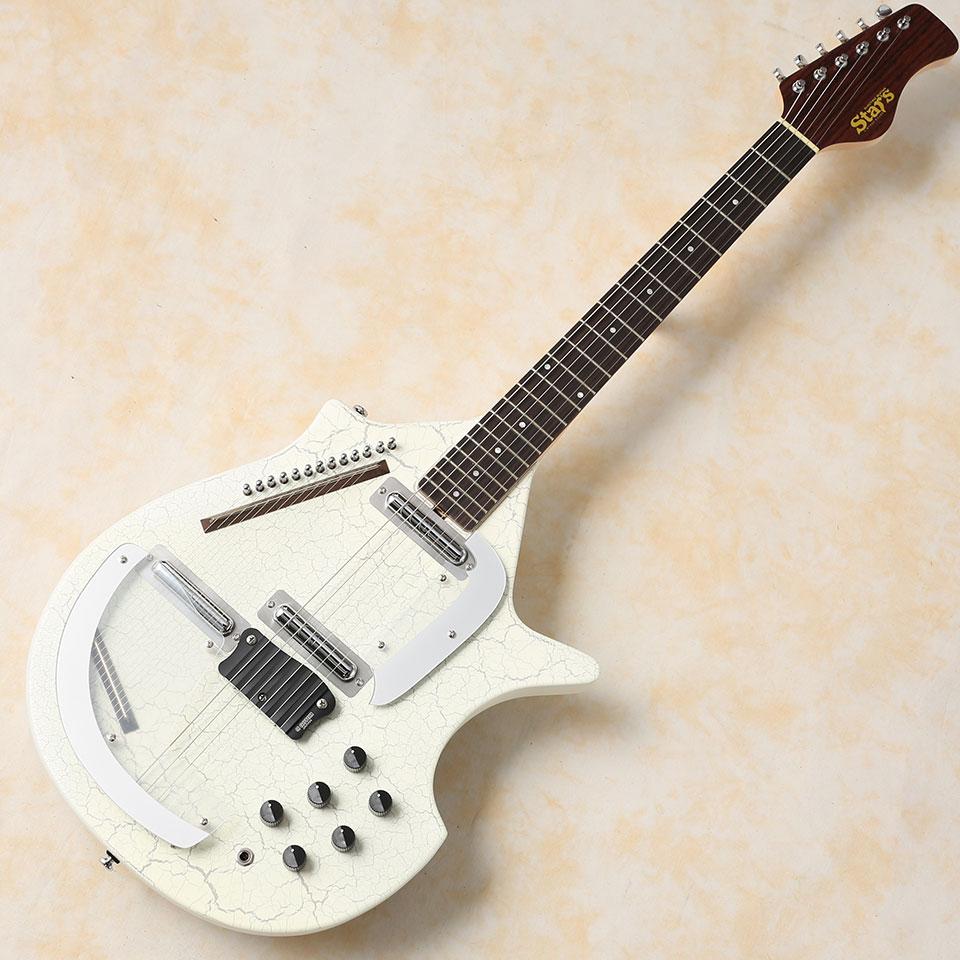 セットアップ STARS ギター/Guitar Sitar (White) (White) エレクトリック ギター シタール STARS/Guitar【お取りよせ商品】, フレームインテリアオカモト:211a7807 --- totem-info.com