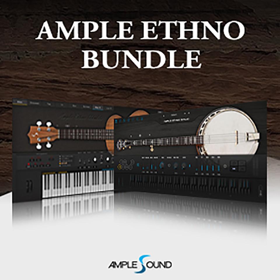 操作性に優れたエスノシリーズ音源2in1バンドル AMPLE SOUND/2 IN 1 ETHNO BUNDLE【オンライン納品】【在庫あり】