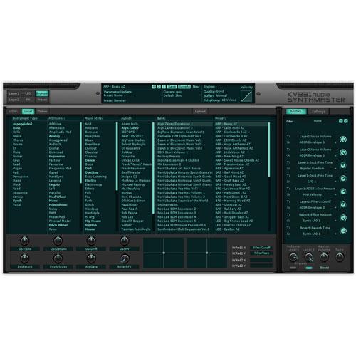 KV331/SYNTHMASTER - EVERYTHING BUNDLE【数量限定特価キャンペーン】【オンライン納品】【在庫あり】