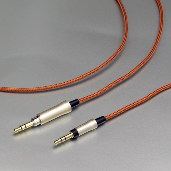 PCUHD(Pure Copper Ultra High Drawability)を採用した3芯構造のヘッドホンケーブル。一音一音の瑞々しい表現を鮮明に伝えます。 onso/hpcs_01 ヘッドホンケーブル 3.5mmステレオ-3.5mmステレオ 1.2m【HPCS_01_UB33_120】