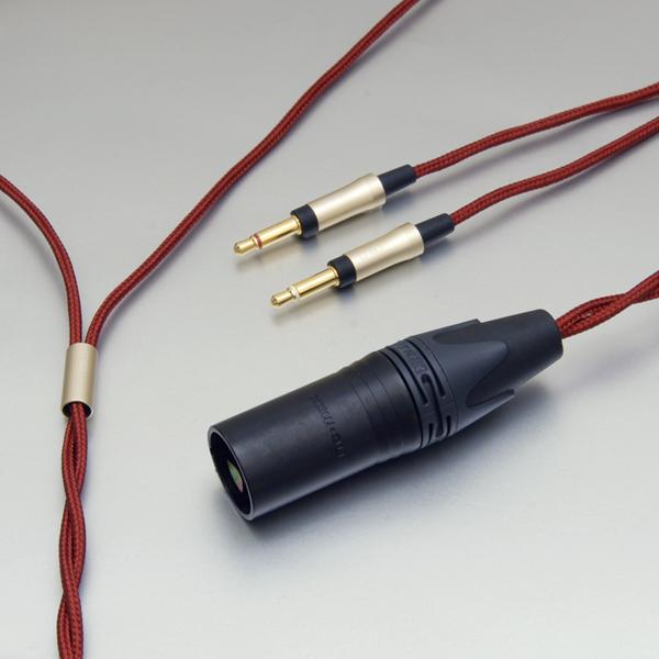 onso/hpct_03 ヘッドホンケーブル 4ピンXLR-3.5mmモノx2 1.2m【HPCT_03_BLX3_300】