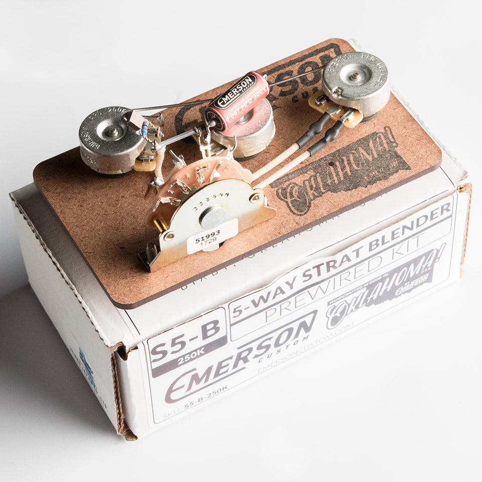 Emerson Custom/Emerson Custom Pre-Wired Kit 5-Way Stratocaster Blender【エマーソン】【お取り寄せ商品】