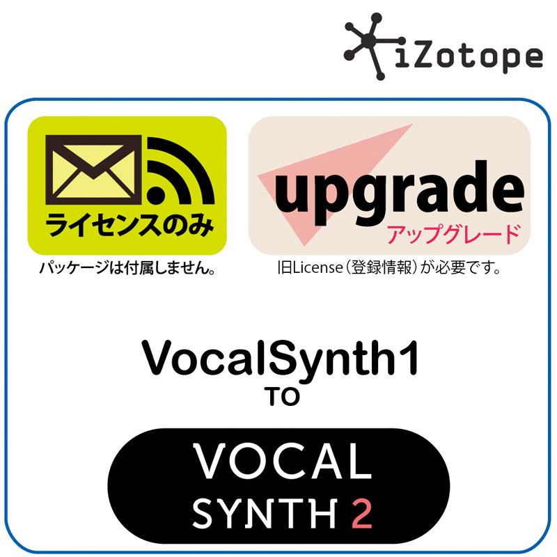 iZotope/VocalSynth 2 Upgrade from VocalSynth 1【オンライン納品】