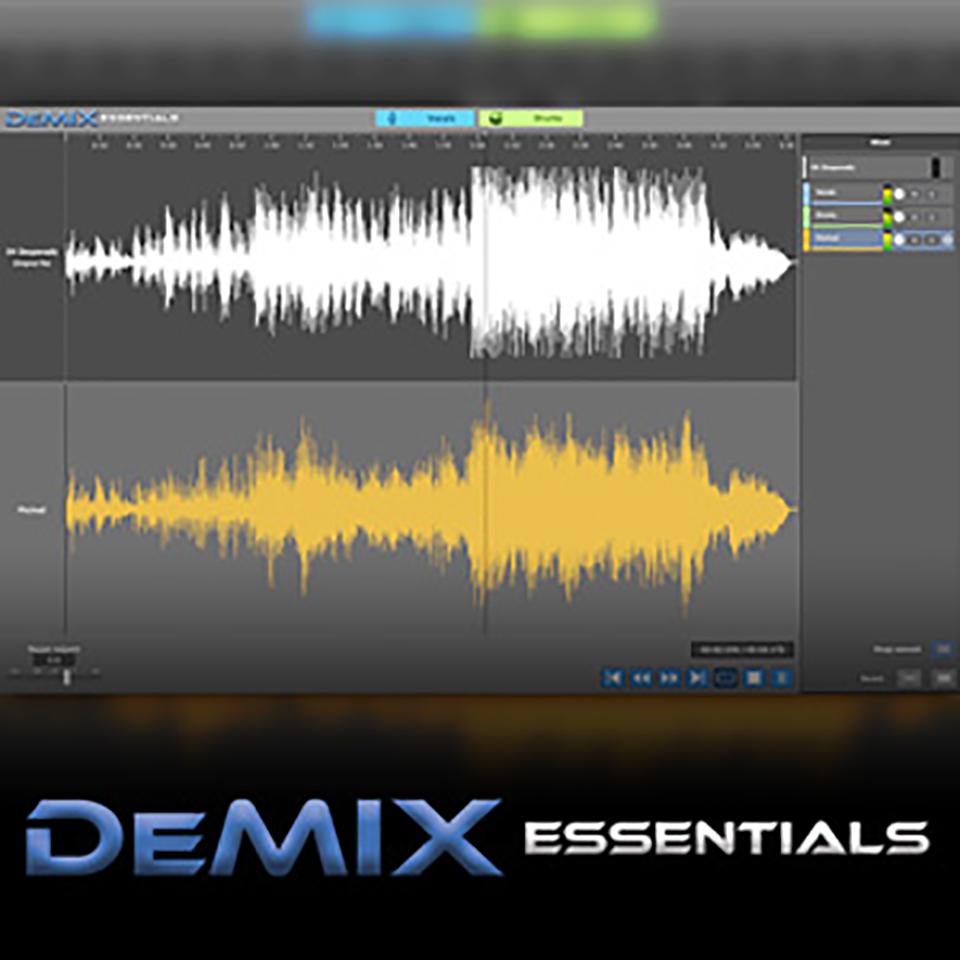 ボーカルとドラムを分離可能なDEMIX PROの入門版 AUDIOSOURCERE DEMIX ESSENTIALS 驚きの値段で 購入 在庫あり オンライン納品