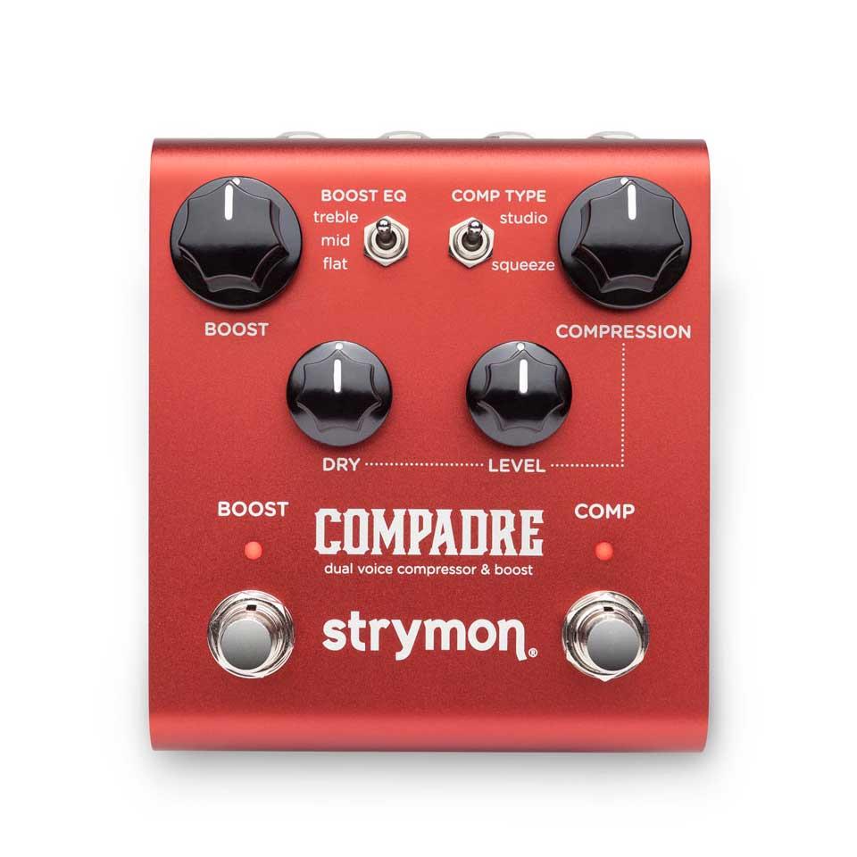 2種類のアナログコンプレッションとブーストを備えた高品質ペダル strymon 売却 引き出物 COMPADRE