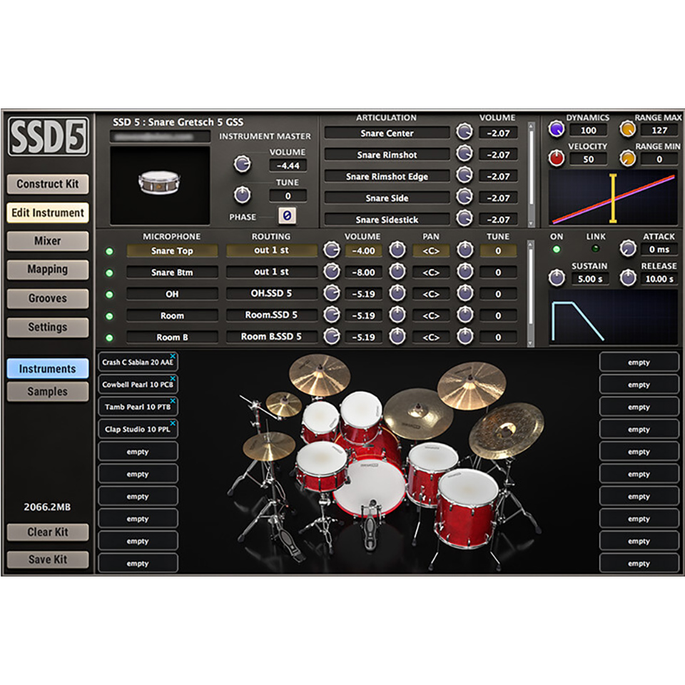 Steven Slate Drums/SSD 5【オンライン納品】【在庫あり】