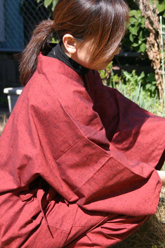 安心品質の日本製 伝統と機能美の婦人専用作務衣 作務衣 さむえ 民芸 久留米織作務衣 M 3色 爆売りセール開催中 婦人用作務衣 藍紬 綿100% L オンライン限定商品