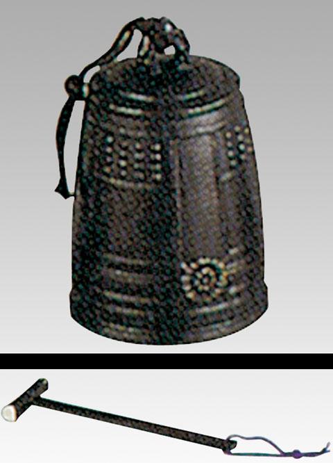 唐銅喚鐘(撞木付き)