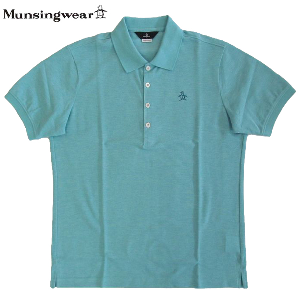 独特な店 ゴルフポロシャツ半袖 Lサイズ マンシングウェア ゴルフウエア GWMJ203 ゴルフウエア B500 ブルー杢 GWMJ203 送料無料 Lサイズ, ミカタチョウ:59441a0b --- canoncity.azurewebsites.net