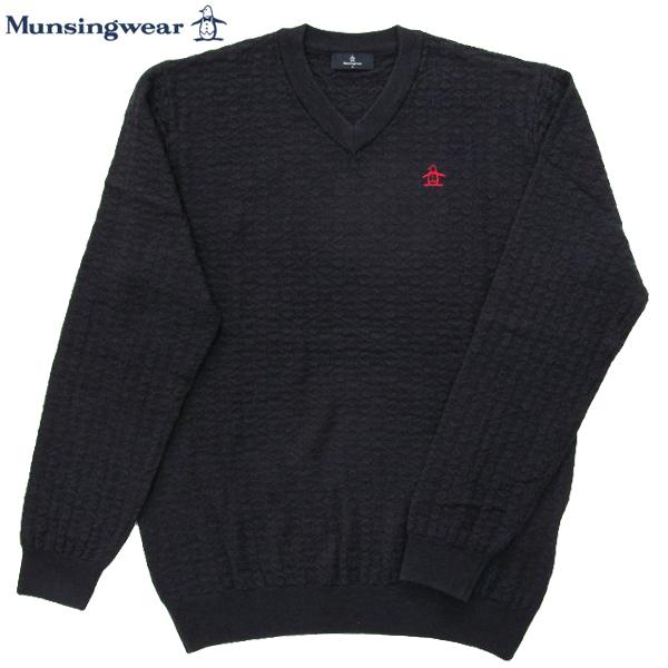 ゴルフセーター マンシングウェア ゴルフウエア Vネックセーター MGMMJL08 NV ネイビー 2018年秋冬モデル 送料無料