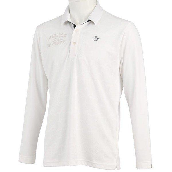 【予約】 ゴルフポロシャツ長袖 マンシングウェア MGMNGB03 ゴルフウエア ペンギンジャカード長袖シャツ MGMNGB03 WH 送料無料 ホワイト WH 送料無料, 上牧町:a280b5e7 --- smithmfg.com