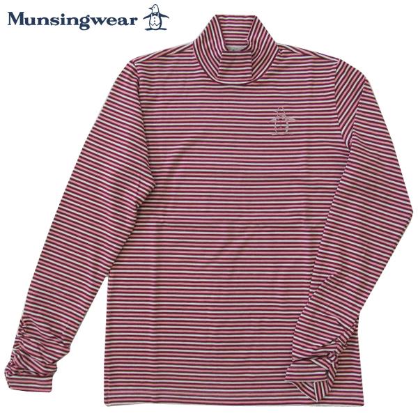 ゴルフハイネックシャツ長袖 マンシングウェア ゴルフウエア レディース SL1296 W277 ピンク系 Lサイズ