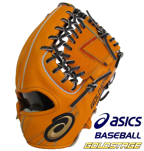 硬式グローブ アシックス ゴールドステージ スピードアクセルTypeE 硬式グラブ 内野手用 BGH8UK 2090 オレンジ×ブラック 送料無料
