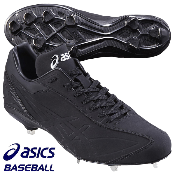 野球スパイク アシックスベースボール アイドライブNU SFS214 9090 ブラック×ブラック