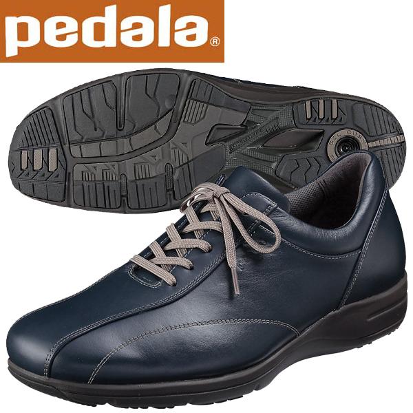 ペダラ ウォーキングシューズ 4E アシックス pedala WS405S 50 ネイビーブルー 送料無料