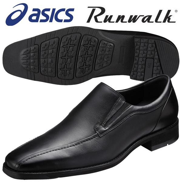 ランウォーク ビジネスシューズ アシックス Runwalk ウォーキングシューズ WR828T 90 ブラック 送料無料