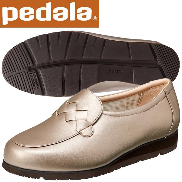 ペダラ ウォーキングシューズ アシックス pedala レディース スリッポンウォーキングシューズ 1212A049 250 フロステッドアーモンド×P 送料無料