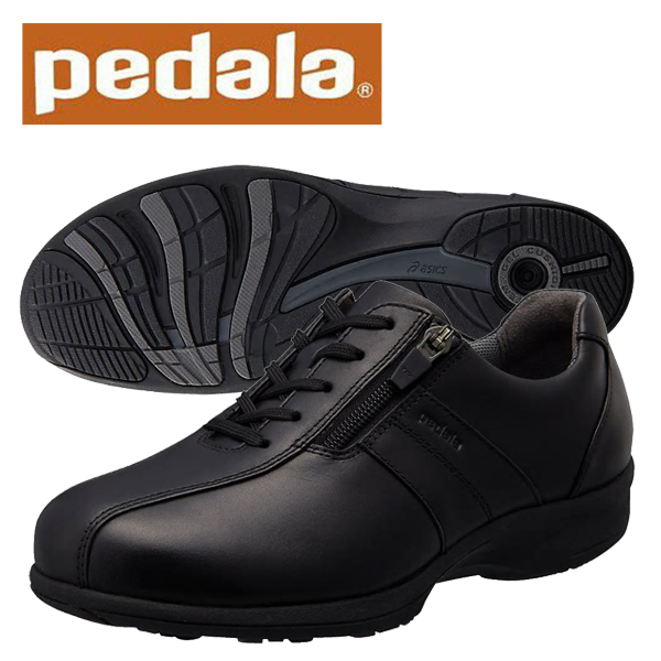 ペダラ ウォーキングシューズ 4E アシックス PEDALA WS093C 4E pedala レディース 1212A093 001 ブラック 送料無料